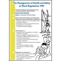 Management of Health & Safety at Work Wallchart/Guide