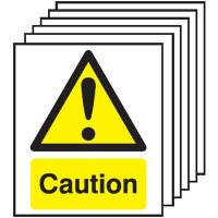 6-Pack Caution Signs