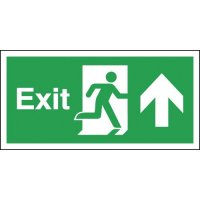 Exit (Running Man & Arrow Up) Signs