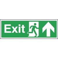 Exit (Running Man & Arrow Up) Signs