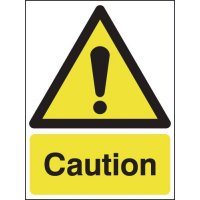 Caution Hazard Warning Signs
