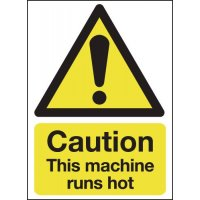 Caution This Machine Runs Hot Sign