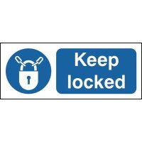Keep Locked & Symbol Signs
