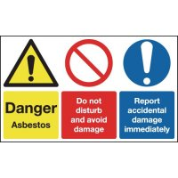 Asbestos/Do Not Disturb/Avoid Damage Signs