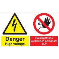 Danger High Voltage/No Admittance Multi-Message Signs