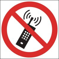 Do Not Use Mobile Phones Circular Signs