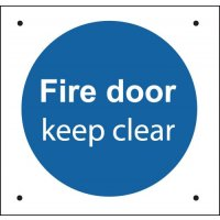 Fire Door Keep Clear - Vandal-Resistant Sign