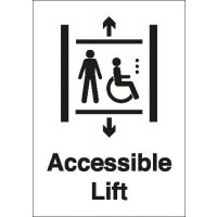 Accessible Lift Signs