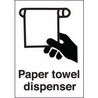 Paper Towel Dispenser Sign