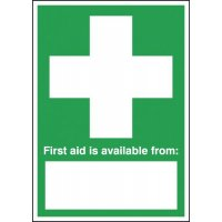 First Aid Is Available From... Window Signs