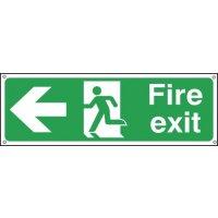 Fire Exit Running Man & Arrow Left Sign