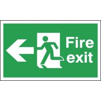 Fire Exit Running Man & Arrow Left Signs
