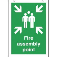 Fire Assembly Point Double-Side Hanging Sign