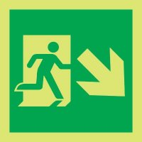Nite-Glo Running Man/Arrow Right & Down Diagonal Signs