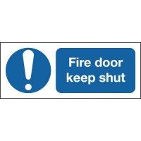Fire Door Keep Shut & Symbol Signs
