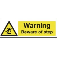 Warning Beware Of Step Window Fix Safety Signs