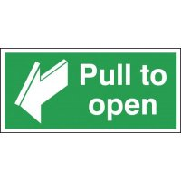 Pull To Open with Arrow Forward Signs
