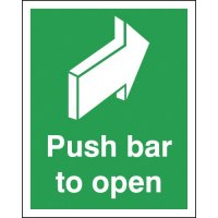 Push Bar To Open Signs