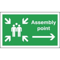 Assembly Point (Group & Arrow Right Symbols) Signs