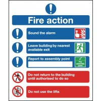 Fire Action Symbolised Signs