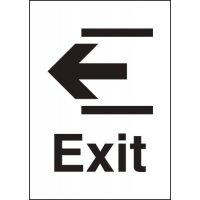 Metal Look Signs - Exit (Arrow Left)