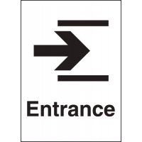 Metal Look Signs - Entrance (Arrow Right)