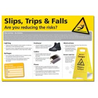 Slips, Trips & Falls Are You Reducing The Risks? Poster