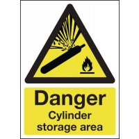 Danger Cylinder Storage Area Sign