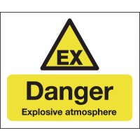 Danger Explosive Atmosphere (Ex Symbol) Signs