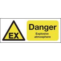 Danger Explosive Atmosphere (Ex Symbol) Signs