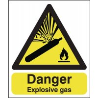 Danger Explosive Gas Signs