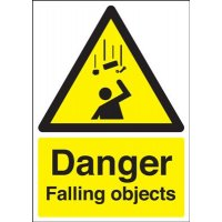 Danger Falling Objects Sign
