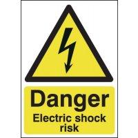 Danger Electric Shock Risk Signs