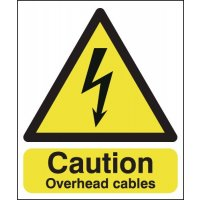 Caution Overhead Cables Signs