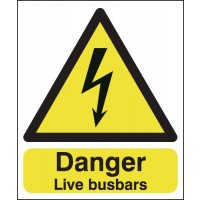 Danger Live Busbars Signs