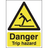 Danger Trip Hazard Signs