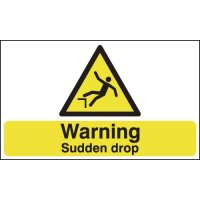 Warning Sudden Drop Signs