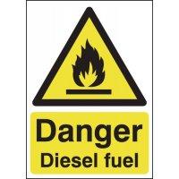 Danger Diesel Fuel Warning Signs