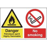Danger Petroleum Spirit Highly Flammable...Signs