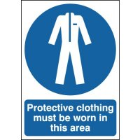 Protective Clothing Must Be Worn In These Areas Signs