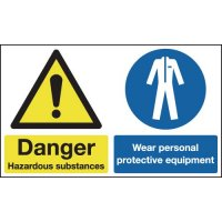Danger Hazardous Substances/Wear PPE Signs