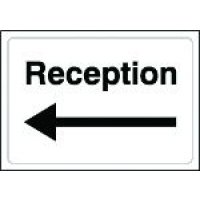 Reception (Arrow Left) Sign