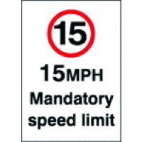 15 mph Mandatory Speed Limit Signs