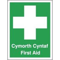 Cymorth Cyntaf First Aid Signs
