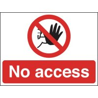 No Access Signs
