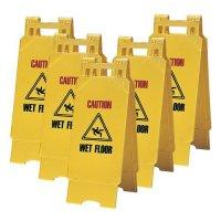 5-Pack Caution Wet Floor Economy Floor Stands