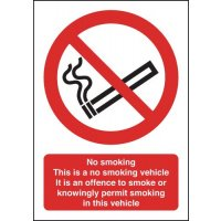 No Smoking Vehicle Sign