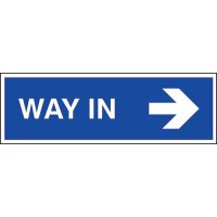 Way In (Arrow Right) Sign