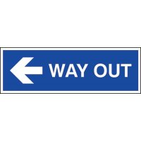 Way Out (Arrow Left) Sign