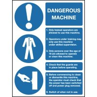 Dangerous Machinery Notice Multi-Message Signs